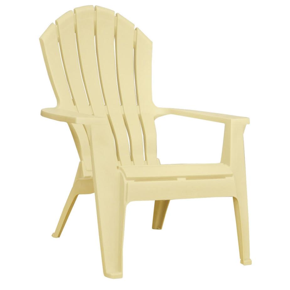 { White Vinyl Adirondack Chairs }