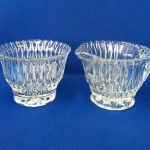 French Glass Creamer and Sugar Bowl