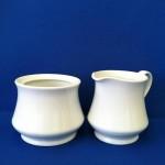 White Creamer and Sugar Bowl